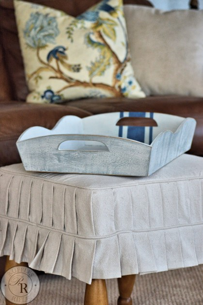 Furniture Reveal An Ottoman Slipcover