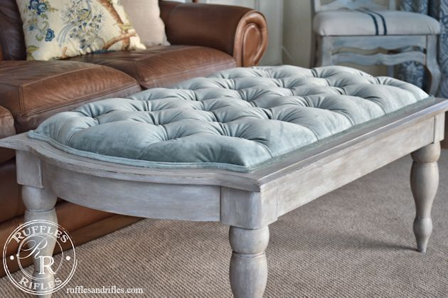 tufted ottoman 8 - Tufted Ottoman Coffee Table