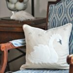 Pottery Barn Inspired Swan Throw Pillow with a Free Template