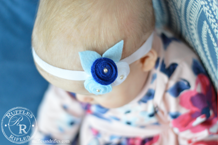 Felt Rose Headband Tutorial