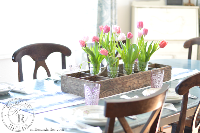 A Spring Table Set with Blush and Blue