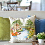 An Embroidered Spring Pillow and Giveaway Winner