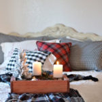 Highland Christmas in the Master and a Plaid Tassel Throw Tutorial