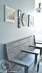 Vintage Railroad Bench and the Entryway Reveal
