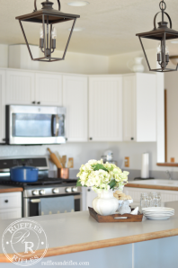 Farmhouse Kitchen Light Reveal