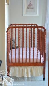Sneak Peak of the Nursery and a Crib Sheet Tutorial