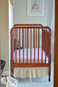 Sneak Peak of the Nursery and a Crib Sheet Tutorial