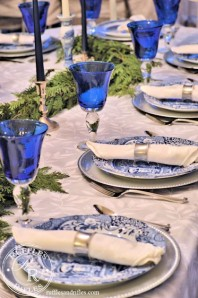 For the Love of Blue and White – A Christmas Tablescape